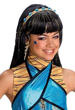Rubies Costume Co Monster High Cleo De Nile Girls Wig (peluca): Amazon.es: Juguetes y juegos