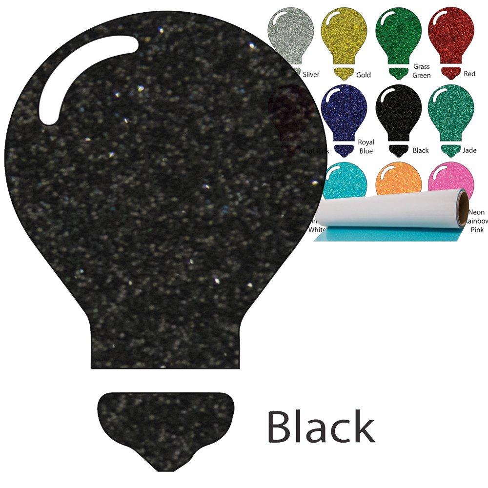 Color Theory Glitter Heat Transfer Vinyl (HTV) 20'' x 5yd Black