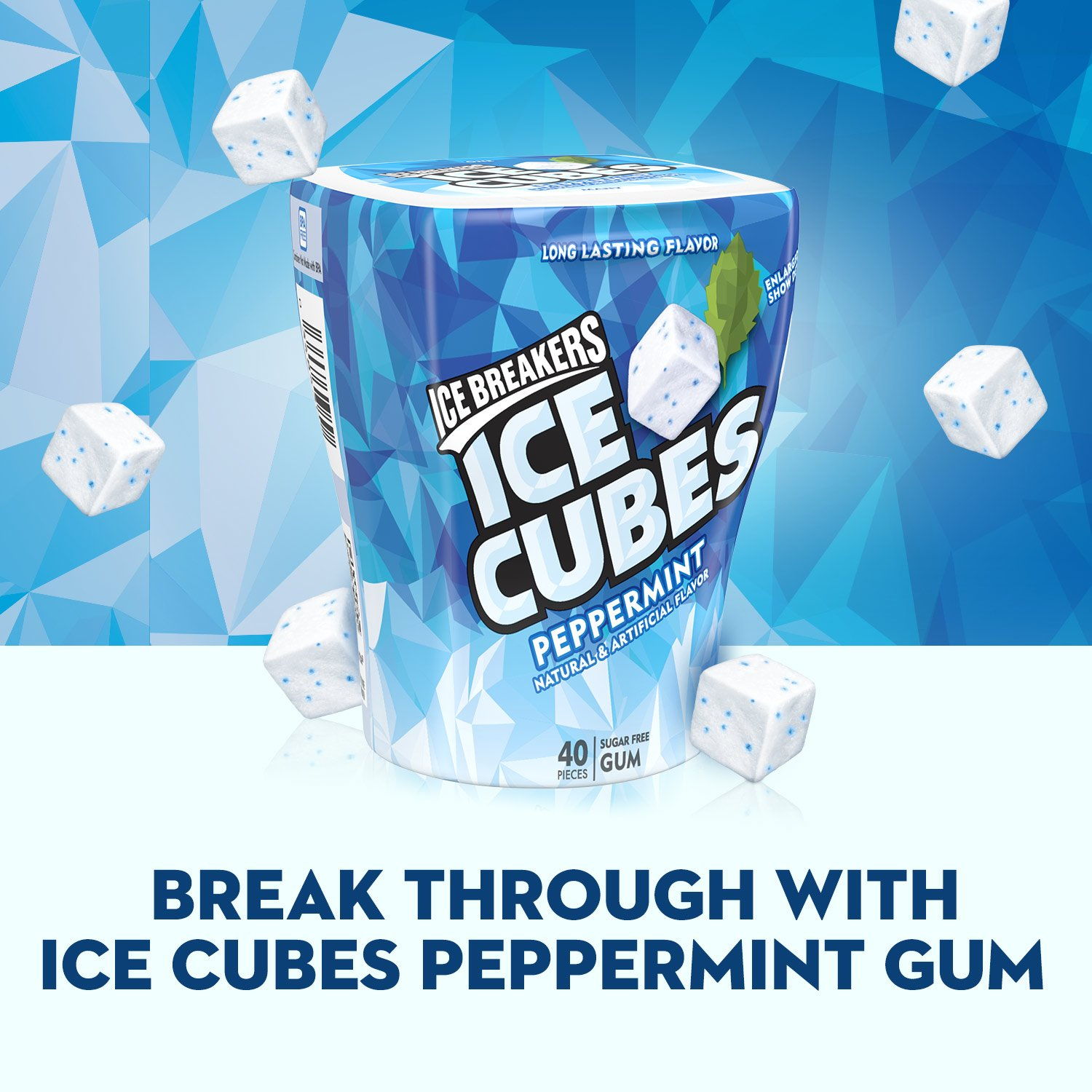 Amazoncom Ice Breakers Ice Cubes Chewing Gum Sugar Free