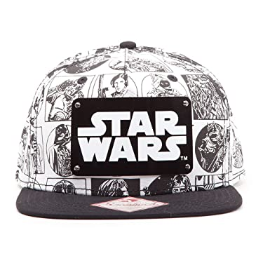 7be7a7dfd46 STAR WARS Comic Book Strip with Metal Plate Logo Baseball Cap