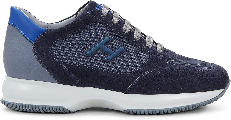 Hogan - Zapatillas deportivas para hombre Interactive azul y gris - HXM00N0Q102 N6Z50C3 - Talla