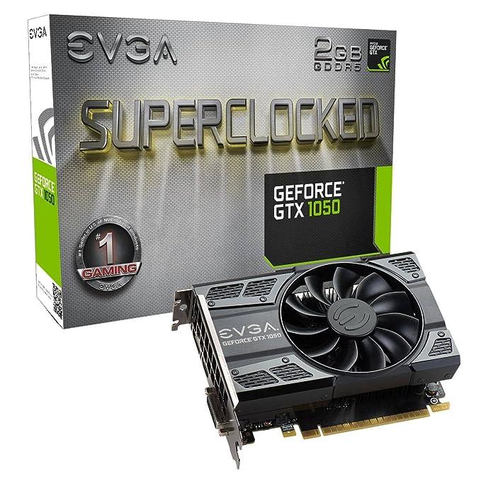 Evga 02G-P4-6152-KR - Tarjeta gráfica Nvidia GeForce GTX 1050 de 2 GB, Color Negro