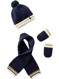 a1d24aaf3 VERTBAUDET Conjunto de gorro + bufanda + manoplas de punto tricot forrado  para bebé niño…
