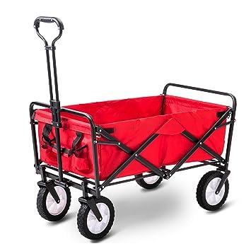 GARDEN CAR ZLMI Carro de jardín Plegable portátil Super Gran Capacidad camión de Cuatro Ruedas supermercado Carrito de Compras Carro jardín Transporte fácil ...
