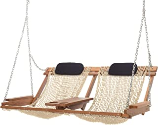 product image for Nags Head Hammocks Cumaru Deluxe Double Porch Swing, Oatmeal DuraCord