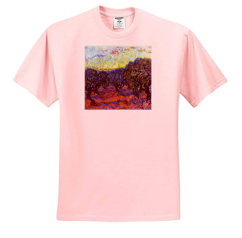 3dRose VintageChest T-Shirts Van Gogh Masterpieces Olive Grove
