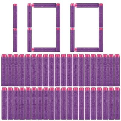 PeleusTech Refill Bullets, 100Pcs Dart Refills for Nerf Rebelle Dart Fire Blaster - Purple: Toys & Games