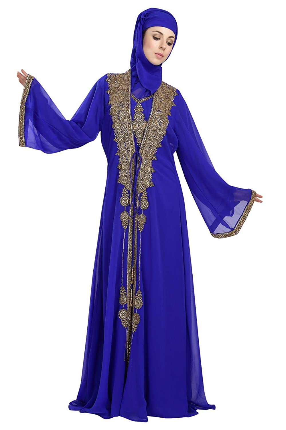 Amazon.com: Party Wear Jalabiya Khaleeji Thobe Caftan Dress For ...