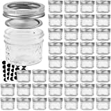 VERONES Mason Jars Canning Jars, 4 OZ Jelly Jars With Regular Lids, Ideal for Jam, Honey, Wedding Favors, Shower Favors, Baby