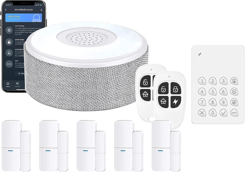 Home Alarm System 8 Pieces-Kit (2nd Gen) Bundle with Keypad