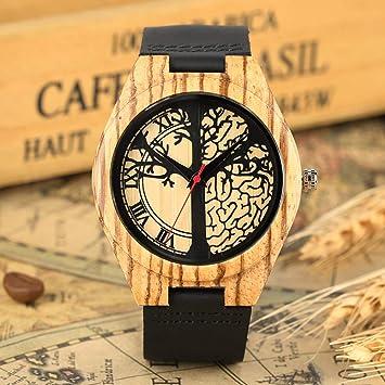 Amazon.com: Reloj de pulsera de cuero ligero hecho a mano ...