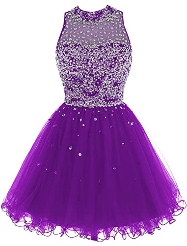 Bbonlinedress Short Tulle Beading Homecoming Dress Prom Gown