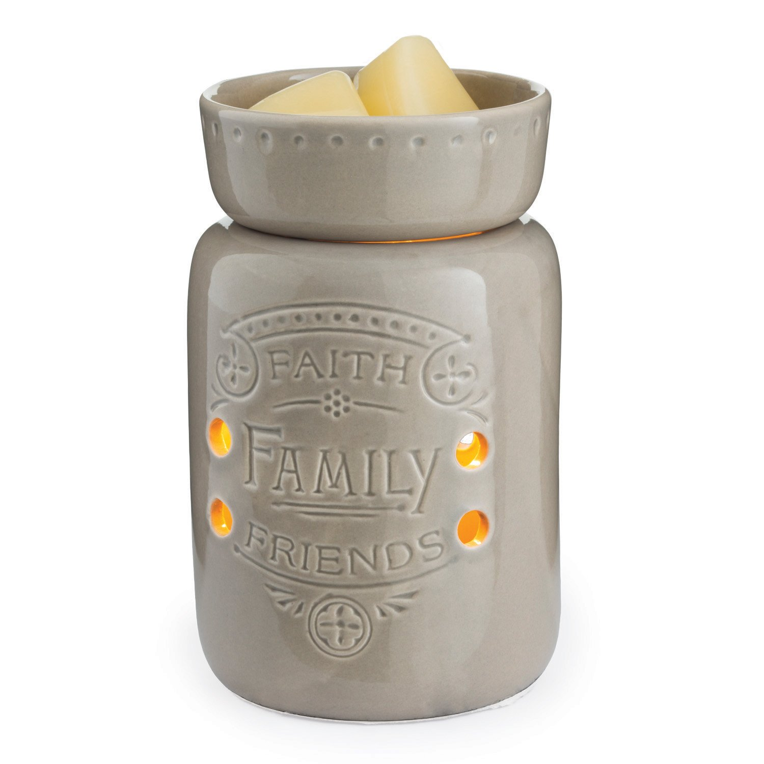 CANDLE WARMERS ETCMidsized Illumination Fragrance Warmer- Light-Up Warmer For Warming Scented Candle Wax Melts and Tarts or Essential Oils To Freshen Room, Faith, Family, Friends