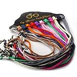 12 Pcs Set Colorful Nylon Braided Eyeglass Cord Reading Sunglass Neck Strap Eyewear Retainer Rope Holder