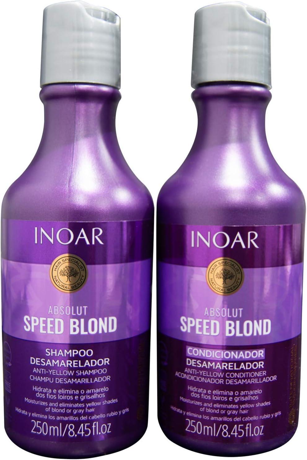 Shampoo e condicionador matizadores - Inoar