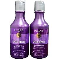 Inoar Kit Duo Shampoo e Condicionador Speed Blond Matizador, 2x250 ml, 2 unidades