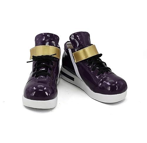 Amazon.com: Juego de Cosplay de Encaje de Cuero Zapatos de ...