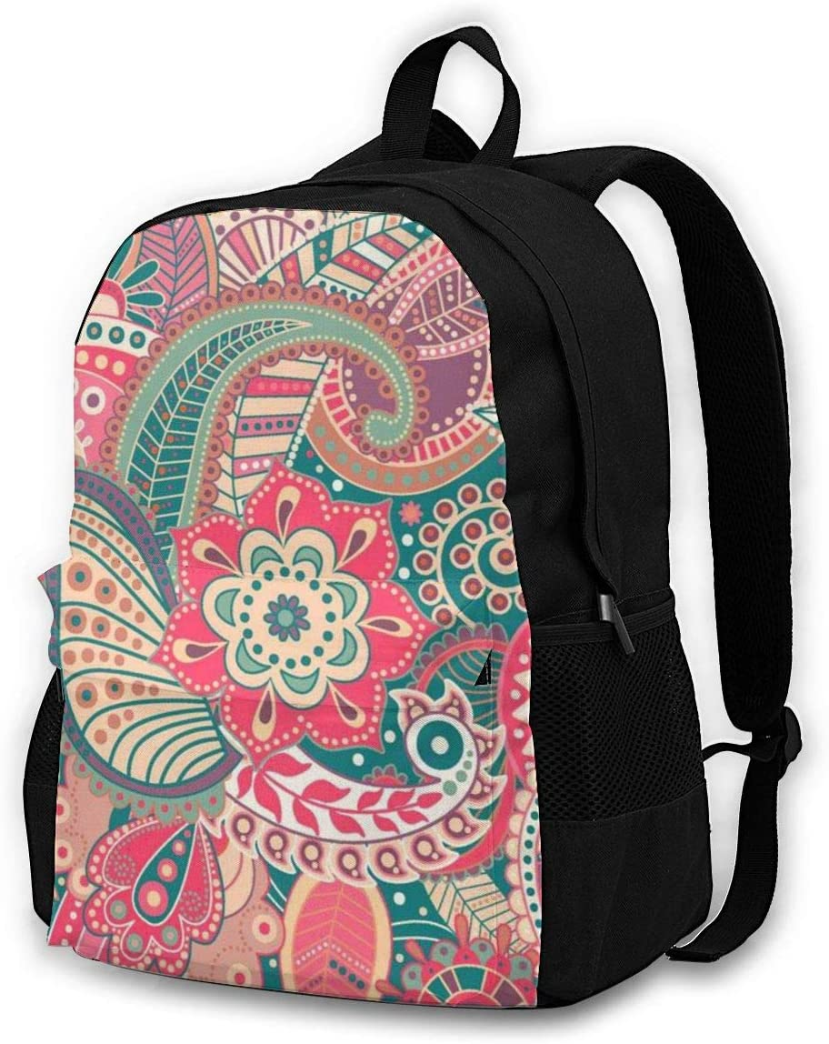 Painting Flower Casual Backpack Waterproof Laptop Backpack for Men Women Daypack