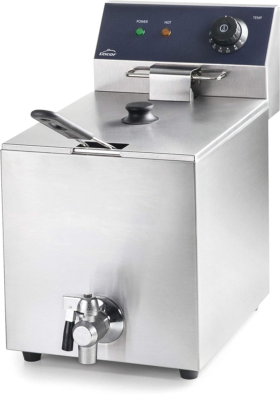 Lacor 69468 69468-Freidora eléctrica con Grifo Profesional 3250 W, 8 L, Acero Inoxidable: Amazon.es: Hogar