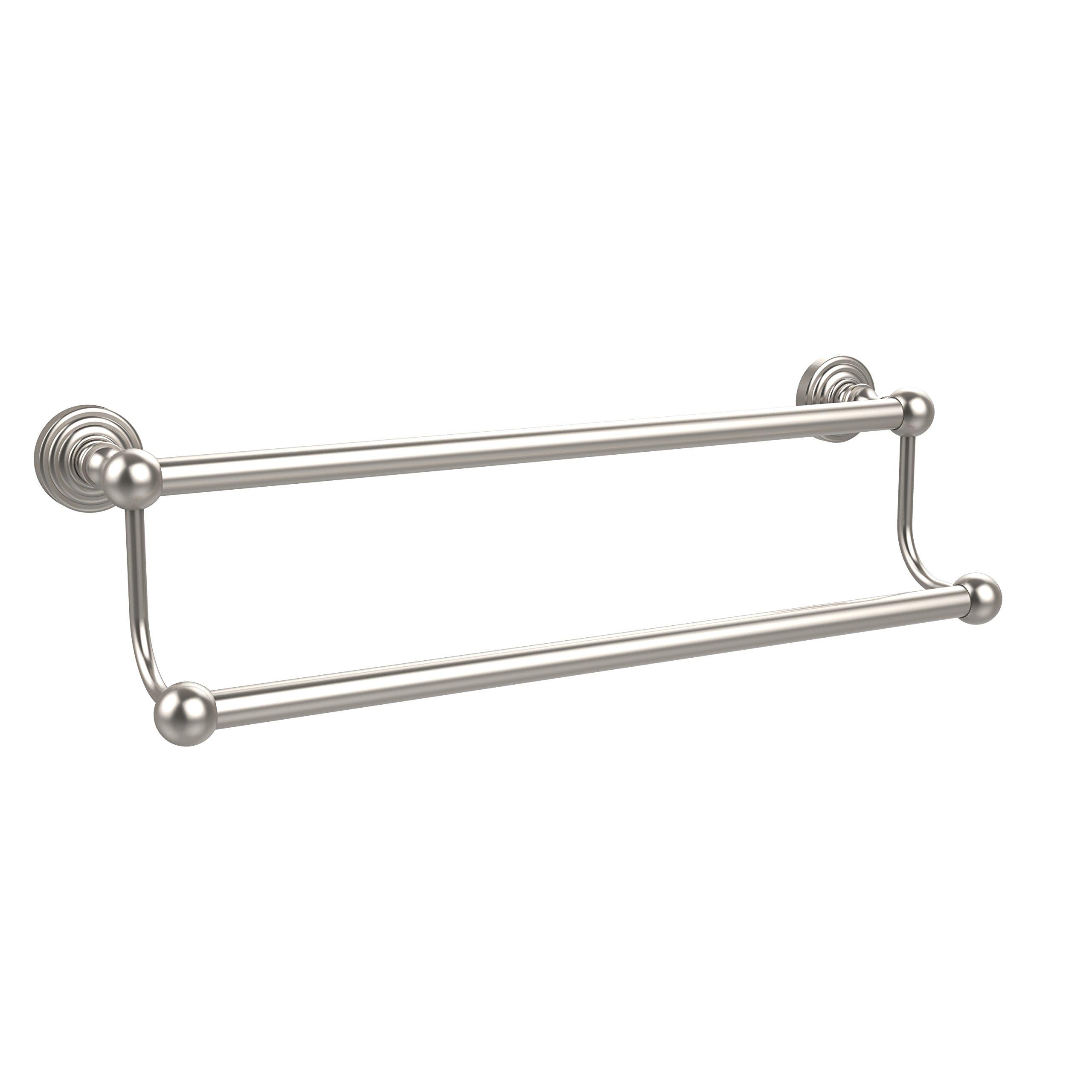 Allied Brass 18'' Double Towel Bar Satin Nickel