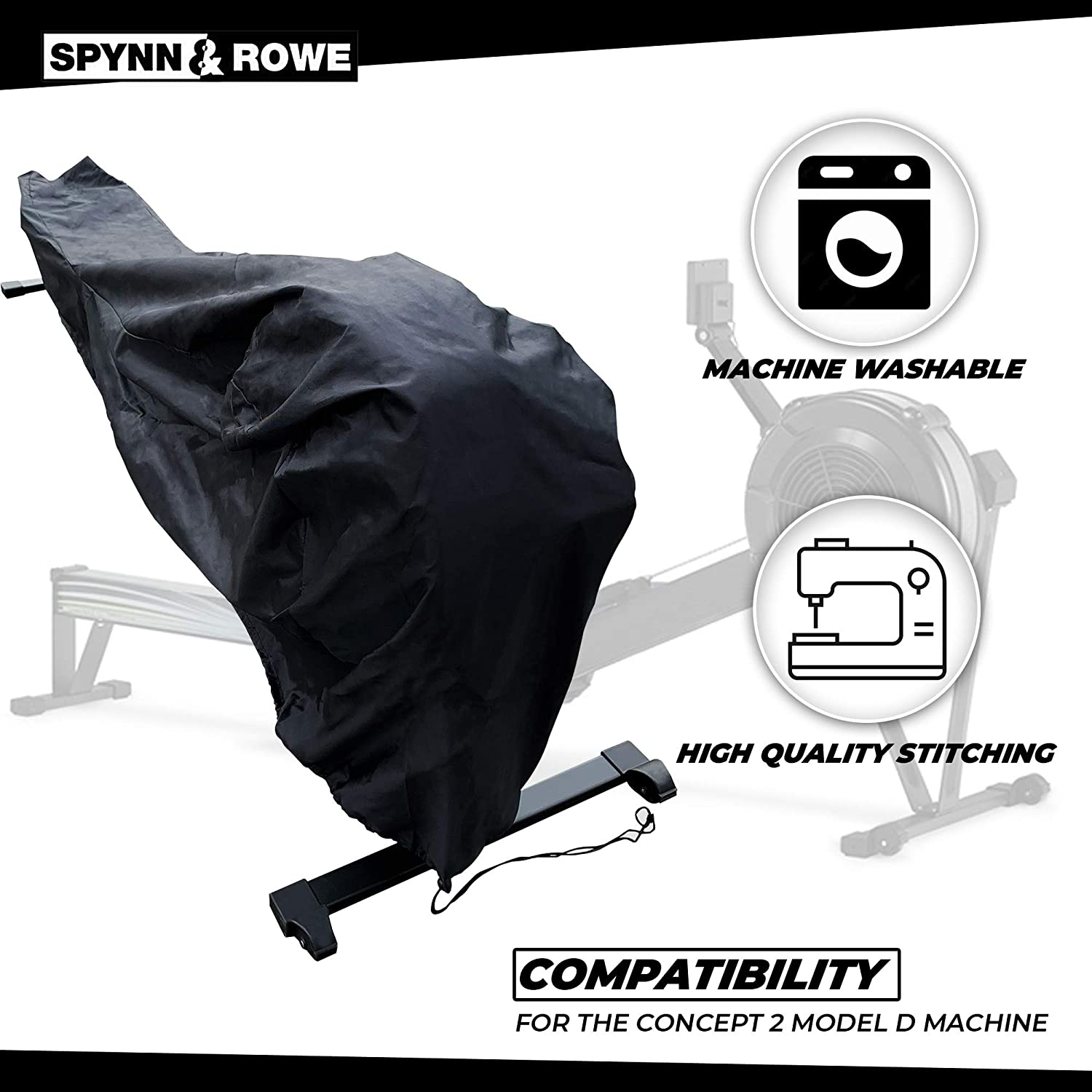 Spynn and Rowe Rowing Machine Cover Designed for The Concept 2 Model D Machine