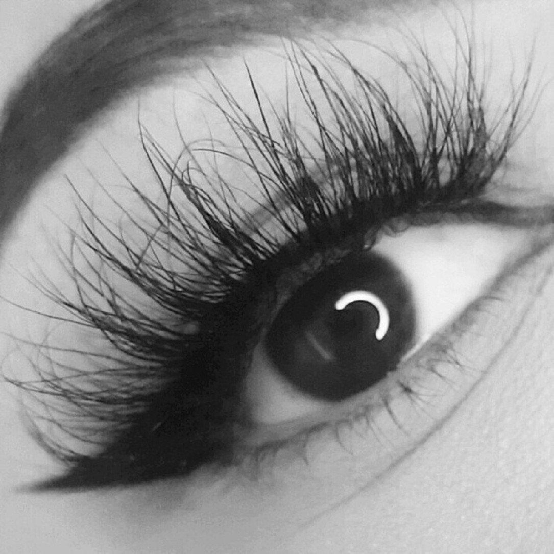 YABINA 1 Pairs Box Long Cross Mink Makeup Natural 3D Fake Natural False Eyelashe