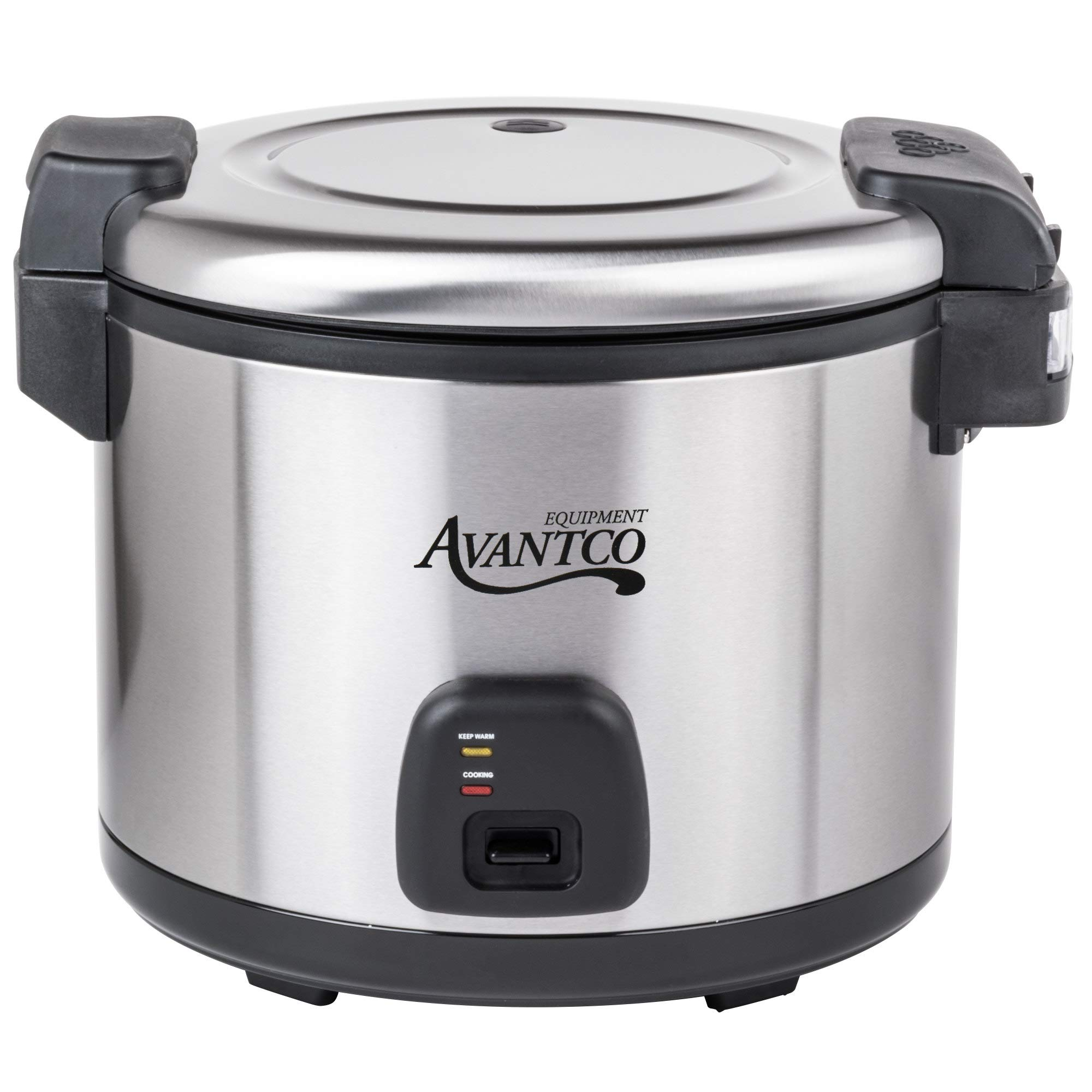 Avantco RC60 60 Cup (30 Cup Raw) Electric Rice Cooker/Warmer - Stainless Steel 120V, 1550W