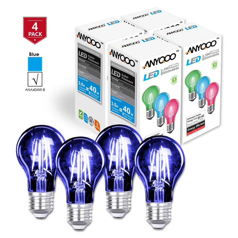 ANYQOO LED Holiday L&s Dimmable Filament Christmas Nightlights Clear Glass Lights Up A19 Edison Energy Saving Stained Glass Light Bulb Incandescent 3.5w ...  sc 1 st  Amazon.com & ANYQOO LED Holiday Lamps Dimmable Filament Christmas Nightlights ...