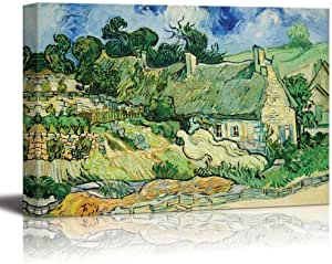 Vincent Van Gogh Thatched Cottages At Cordeville Extra Large Print Canvas Mural