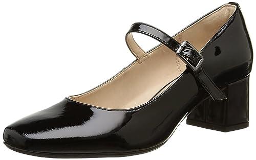 Chinaberry Clarks De Negro Vestir Pop Mujer Cuero Zapatos ZaqrvdxOaW