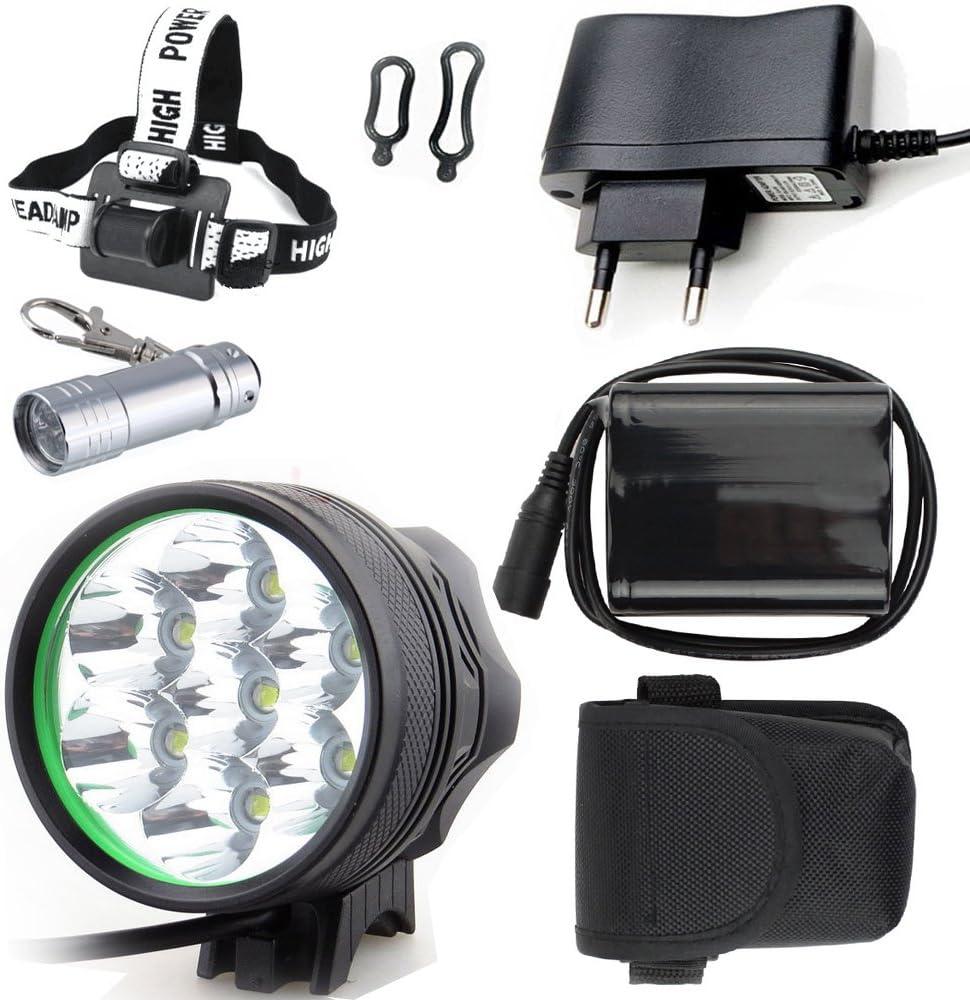 LED LUZ Linterna LáMPARA TORCH Cree 7X LED de bicicleta /bici ...