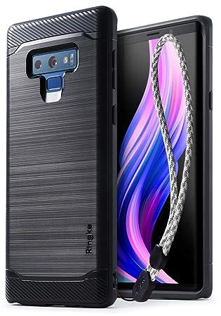 Ringke Onyx Funda Compatible con Samsung Galaxy Note 9, [Gran Resistencia] Carcasa Protectora de TPU Duradera, Antideslizante y Flexible con Correa ...