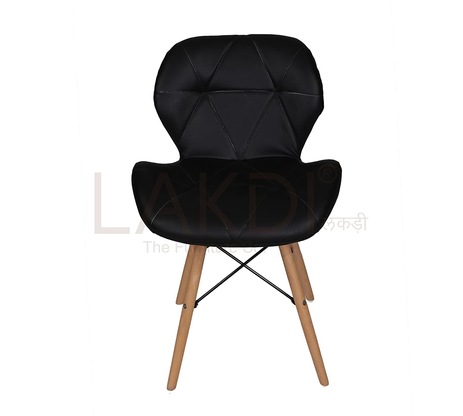 Lakdi Designer Cushioned Dining Chair And Living Room Chair,