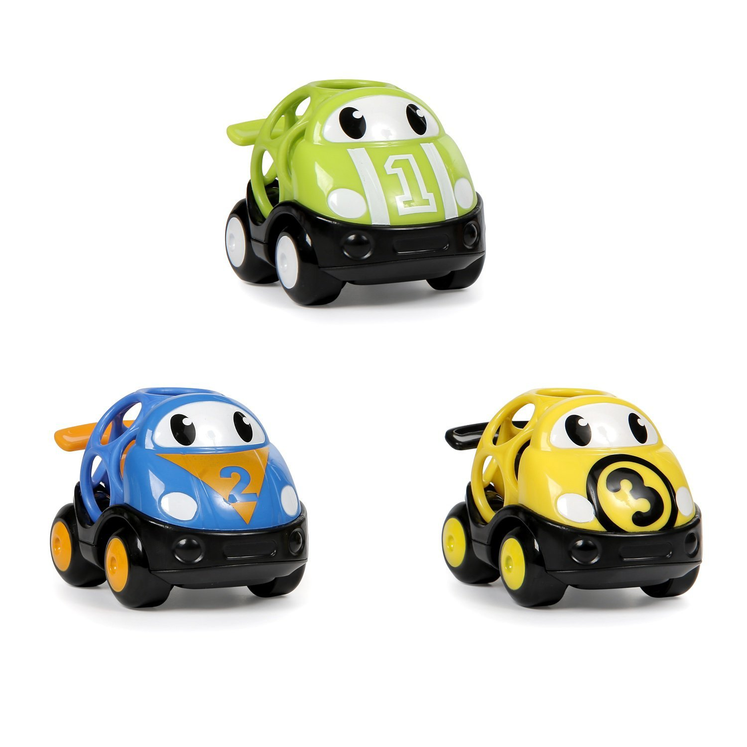 Oball 3 Piece Go Grippers Vehicles, Race Car-3 pack Kids II 10864