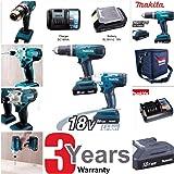 Makita DK18015X2 Cordless Hammer Drill and Impact Driver Combo Set