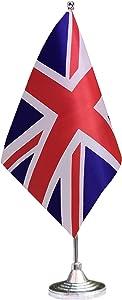 tibijoy Small Mini United Kingdom Desk Flag, British Office Flag,UK Desk Flag,for Home Garden Office Decoration,Festival Events Celebration,Home Decoration,Office Decoration