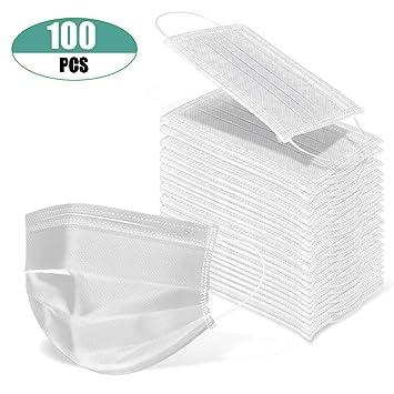 Amazon.com: 100 unidades de máscaras desechables para la ...