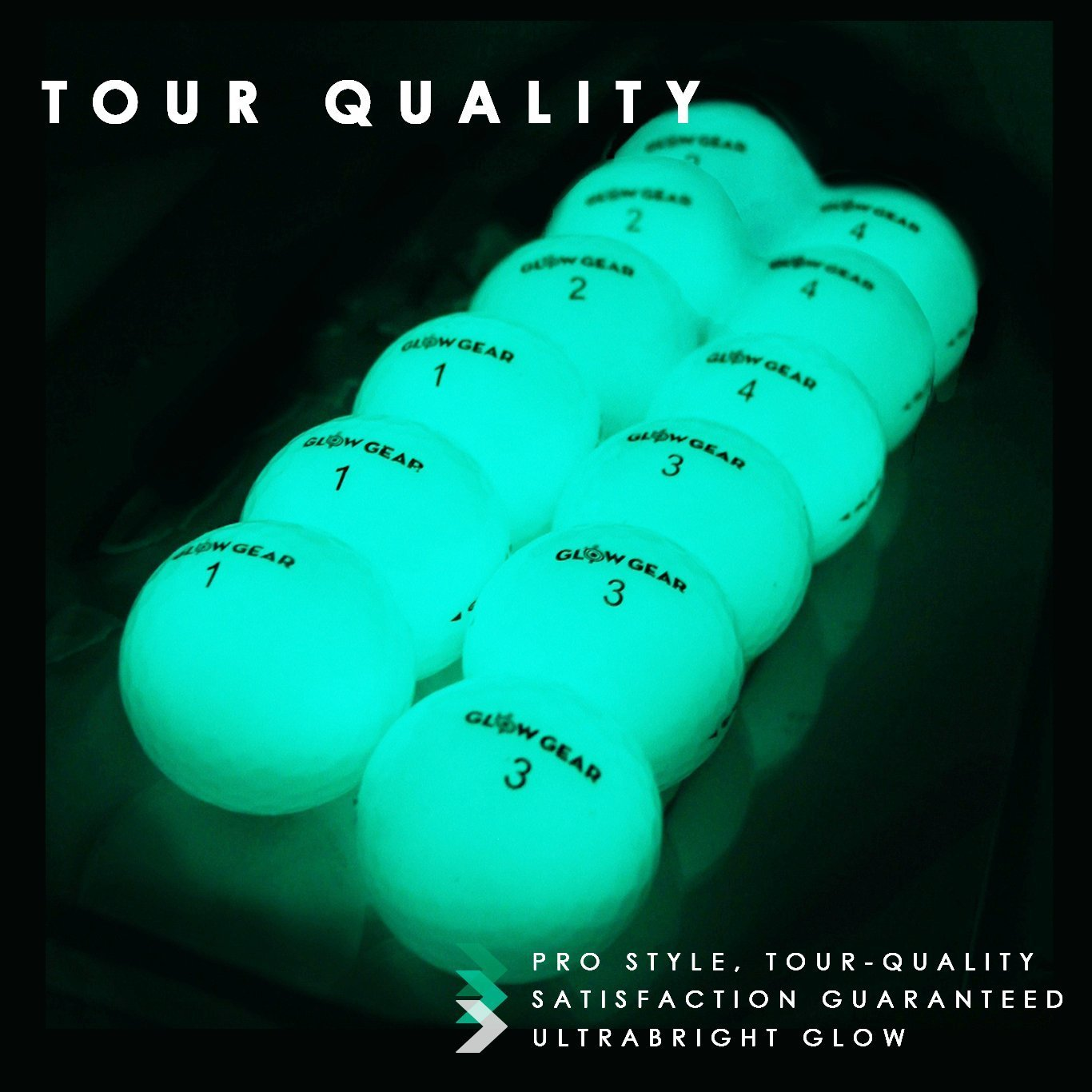 Glow V1 Night Golf Balls - Best Hitting Ultra Bright Glow Golf Ball - Compress.. 12