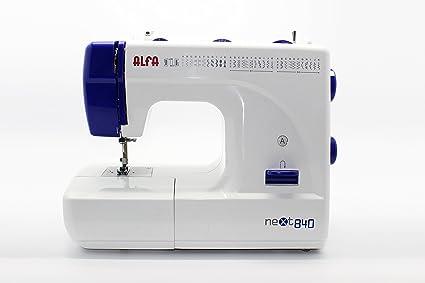 Alfa NEXT840 - Máquina de Coser (Máquina de Coser semiautomática, Azul, Blanco,