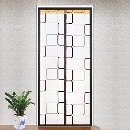 Pvc Mesh curtain,Pure color velcro Magnetic screen curtain Silent