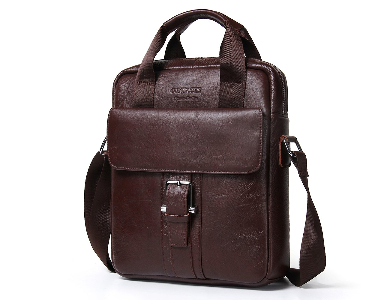 Contacts Fashion Genuine Leather Men Messenger Bags Cowhide Leather Cross Body Bag Briefcase Handbags