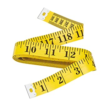Yellow 3 Metres of Soft Pocket Measuring Tape to Measure Sew on to Measure Body Fabric Medical Measure