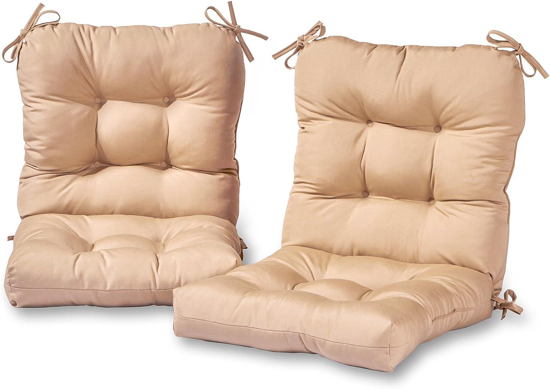 Greendale Home Fashions AZ6815S2-STONE Sanddollar Outdoor Chair Cushion (Set of 2)