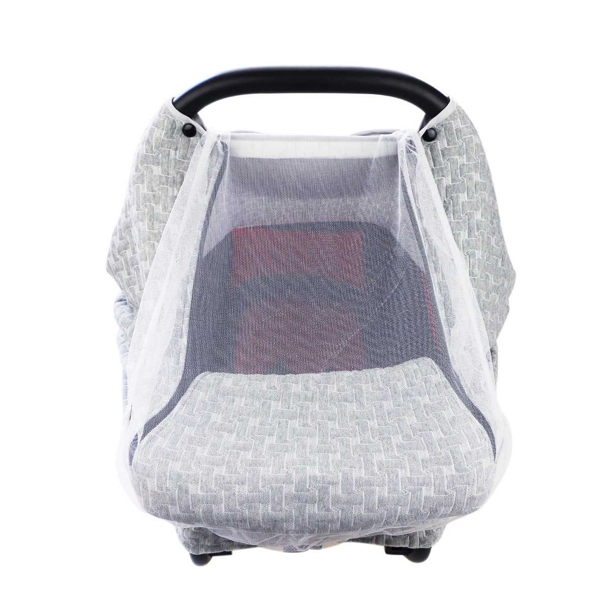 Hisprout Breathable 100% Polyester Air Layer Baby Car Seat Cover Canopy& Nursing Cover, Baby Mosquito Net