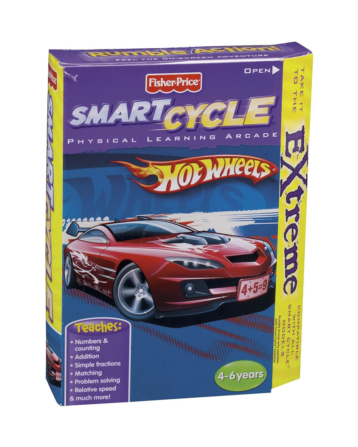 Fisher-Price Smart Cycle Extreme [Old Version] Hot Wheels Software Cartridge
