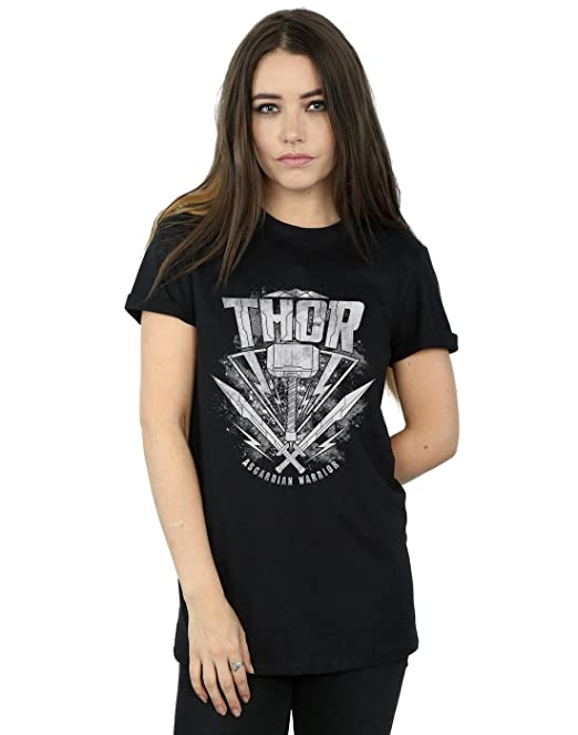 Marvel Hombre Thor Ragnarok Hammer Logo Camiseta seRKe