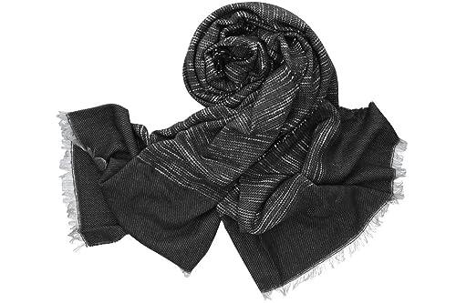 Sciarpa donna uomo ROMEO GIGLI nero con frange 100% acrilico