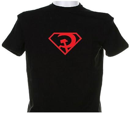 e969c6caff2 Amazon.com   Superman Red Son CCCP Black T Shirt (Size  Medium)   Skydiving  Equipment   Sports   Outdoors