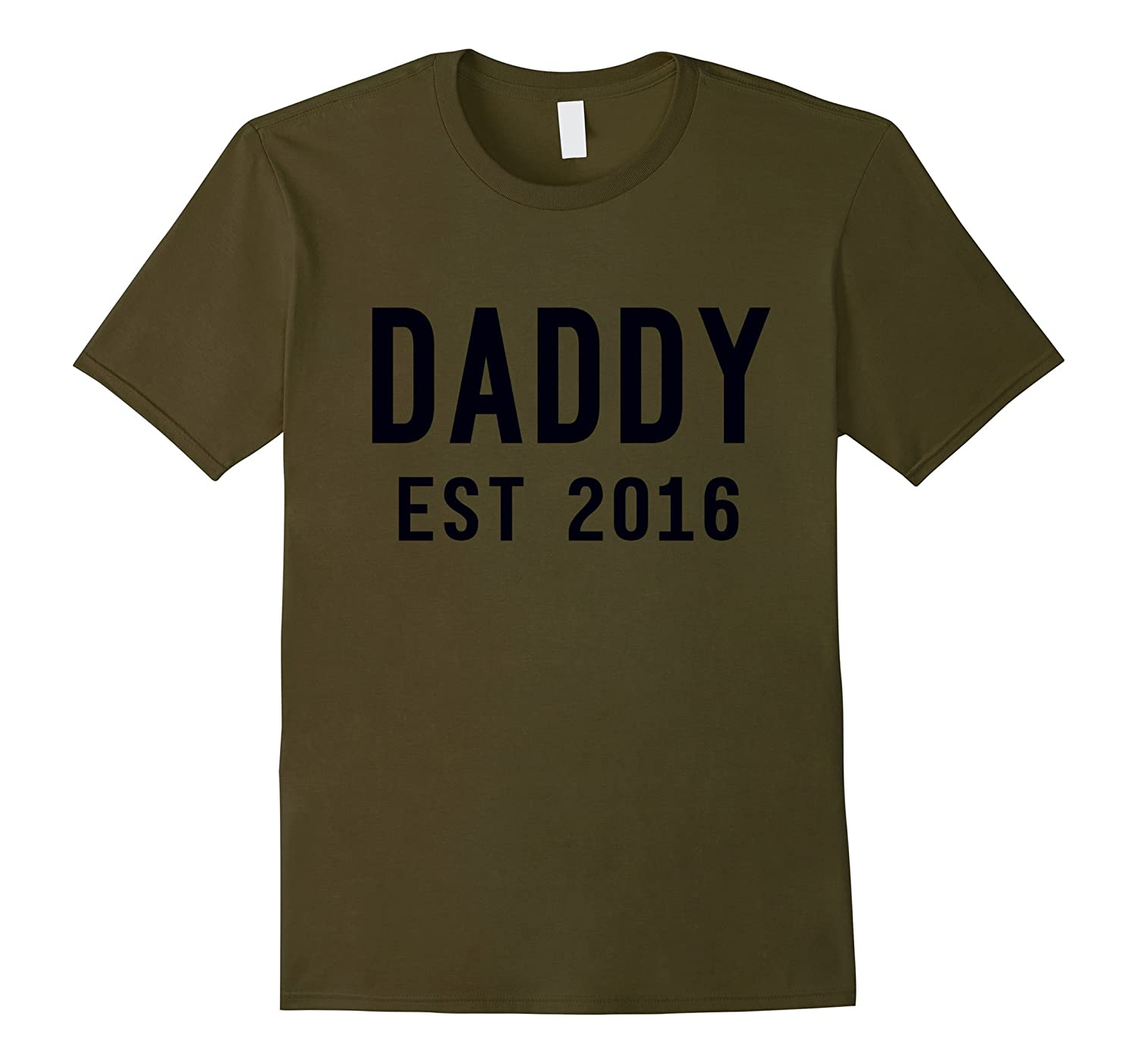 1st Fathers Day T-Shirt - New Daddy Shirt - Dad Est 2016-RT