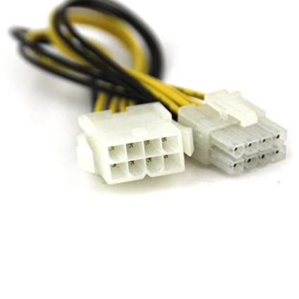 CNCT SMPS 8 PIN EXTENSION IN 0.20M - 8 pin male to female suitable ...